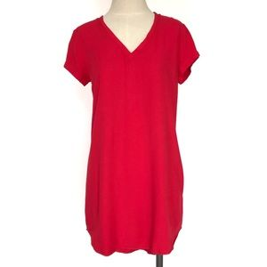 Cloth and Stone Red V Neck Tunic Dress